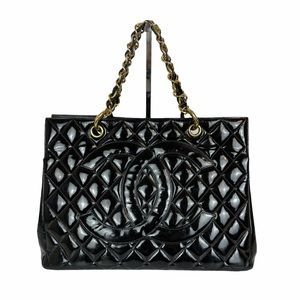 CHANEL Vintage Quilted Grand Shopping Tote Bag